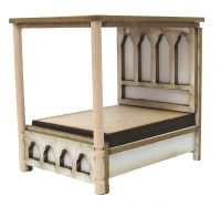 1:48th Gothic Tester Bed