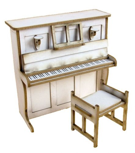 1/24th Upright Piano & Stool