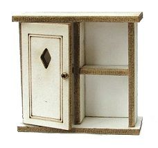 1/24th Cottage Wall & Shelf Cupboard