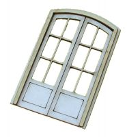 1:48th Arched French Double Door Kit