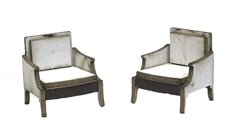 1:48th Bergere Chairs (pair)