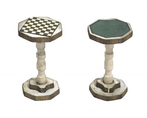 1:48th Card & Chess Table (pair)