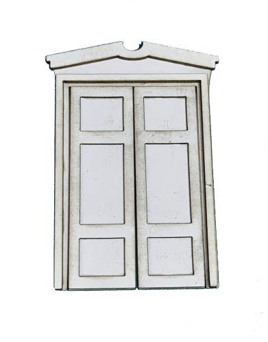 1:48th Classical Double Door & Pediment
