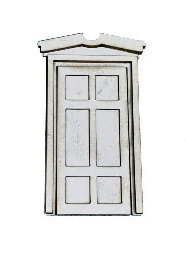 1:48th Classical Single Door & Pediment