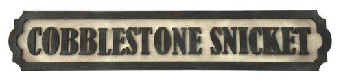 Cobblestone Snicket Street Sign Kit