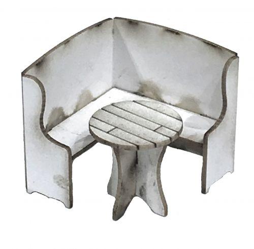 1:48th Corner Settle & Table