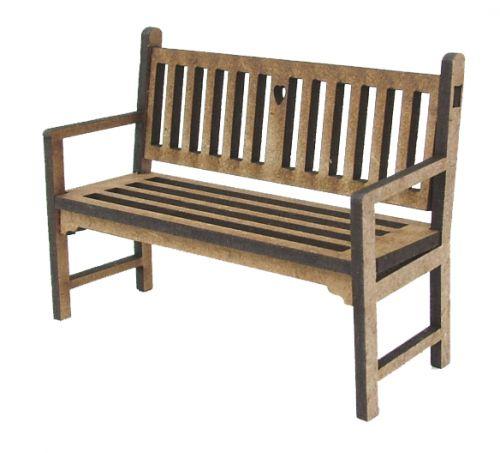 1:24th Cottage Garden Bench