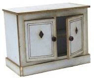 1:24th Cottage Kitchen Cabinet with Fixed Doors