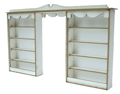 1:48th Double Shop Shelf Kit
