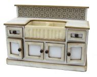 1/24th Double Sink Cabinet with opening cupboards & false draws.
