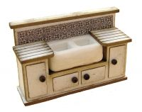 1:48th Double Sink cabinet Kit