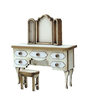 1:48th Dressing Table Set Kit