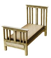 1:48th Edwardian Single Bed