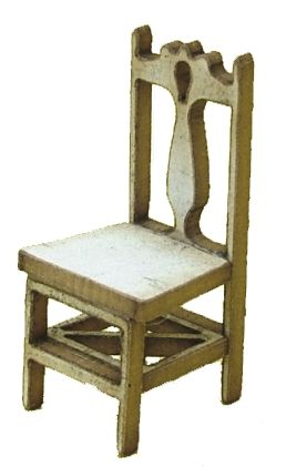 1:48th Pair of Fiddle Back Chairs Kit