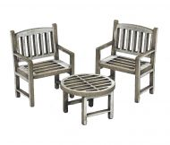 1:48th Garden Table & Chairs
