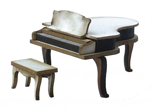 1:48th Grand Piano & Piano Bench Kit