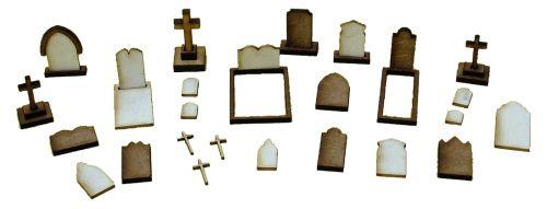1:48th Gravestones Kit