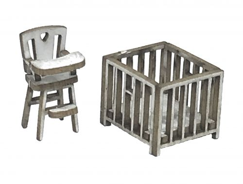 1:48th Highchair & Play Pen