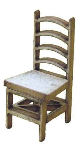 1:48th Pair of Ladder Back Chairs kit
