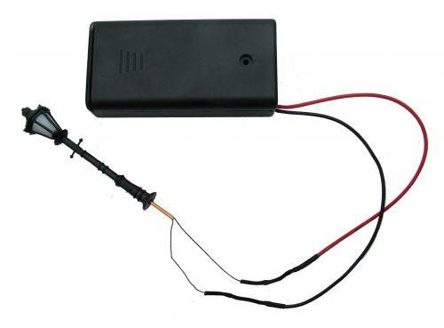 1:48th Lamp Post & Battery Holder