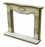 1/48th Large Shabby Chic Fire Surround Kit