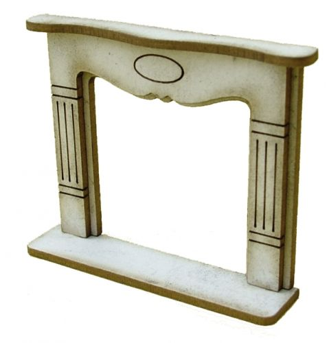 1:48th Large Shabby Chic Fire Surround Kit