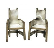 1:48th Pair of Linenfold Chairs