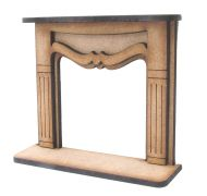 1/24th Medium Shabby Chic Fire Surround