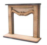 1:24th Medium Shabby Chic Fire Surround
