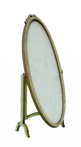 1:24th Oval Cheval Mirror