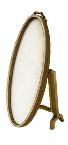 1:48th Oval Cheval Mirror