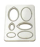 1:24th Oval Wall Frames
