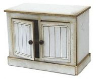 1:24th Panelled Kitchen Cabinet with Fixed Doors