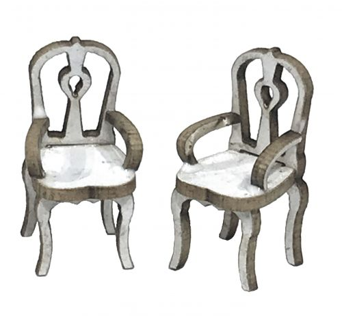 1:48th Pair of Parlour Chairs