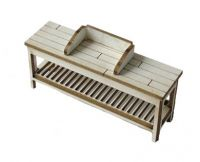 1:48th Potting Bench with Soil Retainer