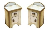 1:48th Retro Bedside Cupboards (pair of)
