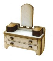 1:48th Retro Dressing Table Kit