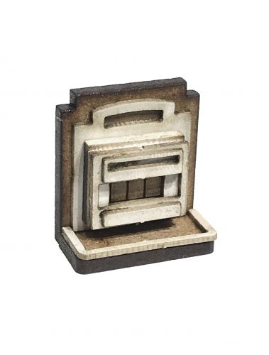 1:48th Retro Gas Fire & Surround