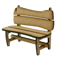 1/24th Rustic Bench Kit