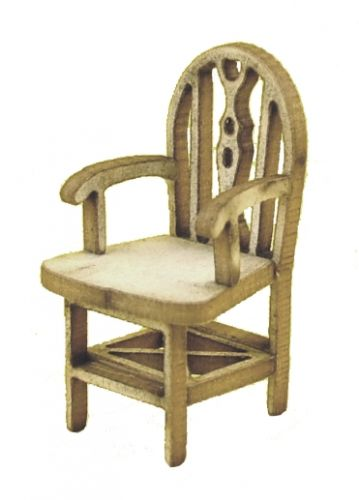 1:48th Pair of Rustic Carver Chairs Kit