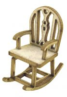 1/48th Rustic Rocking Chair Kit