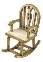 1:48th Rustic Rocking Chair Kit