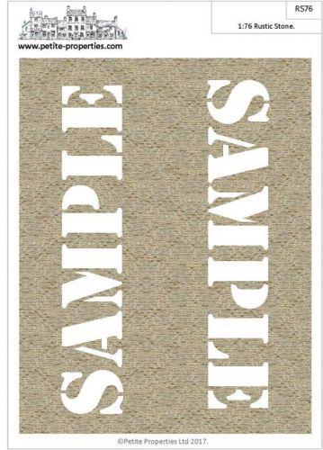 1/76 Rustic Stone Paper