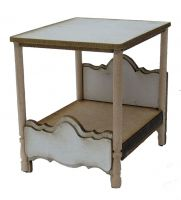 1:48th Shabby Chic Four Poster Bed