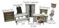 Little Acorns School Furniture Pack 1/48th Scale
