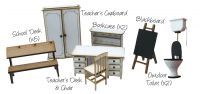 1:24th Little Acorns School Furniture Pack