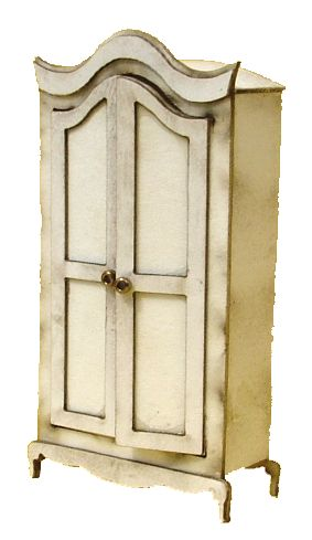1:48th Shabby Chic Armoire
