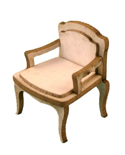 1:48th Shabby Chic Canape Chair Kit