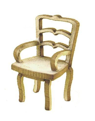 1:48th Pair of Shabby Chic Carver Chair Kit