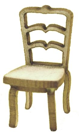 1:48th Pair of Shabby Chic Dining Chairs Kit